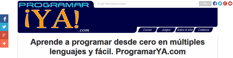 Cuarta versión del sitio a principios del 2015, ahora ya se llamaba oficialmente programarya.com