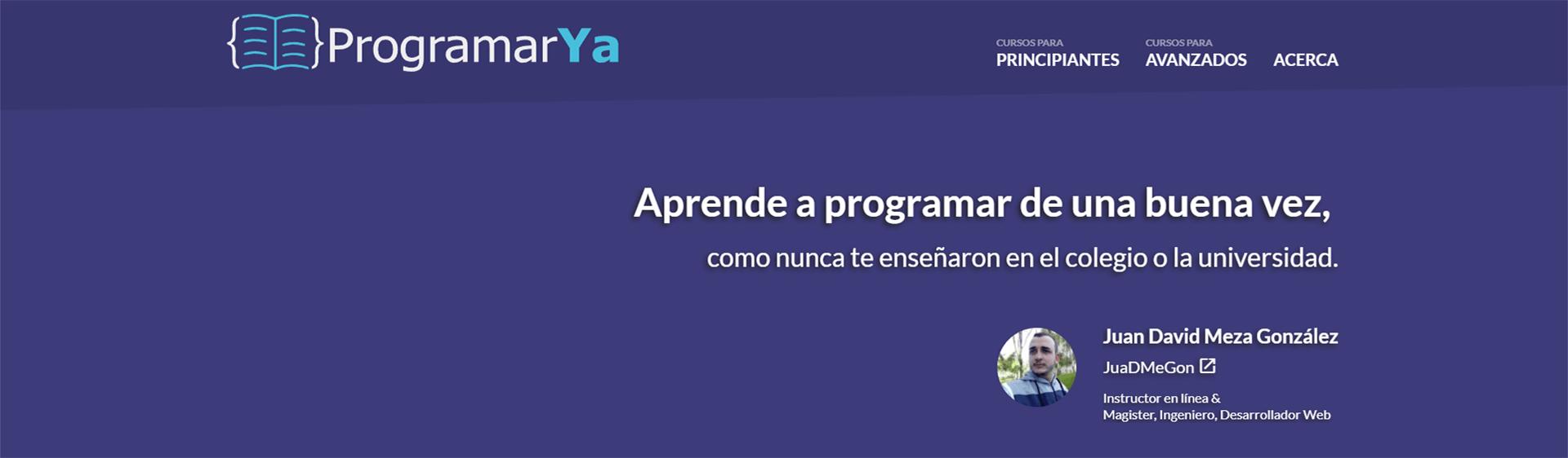 La quinta y más reciente versión del sitio, bajo el nombre de programarya.com; publicada a mediados del 2018